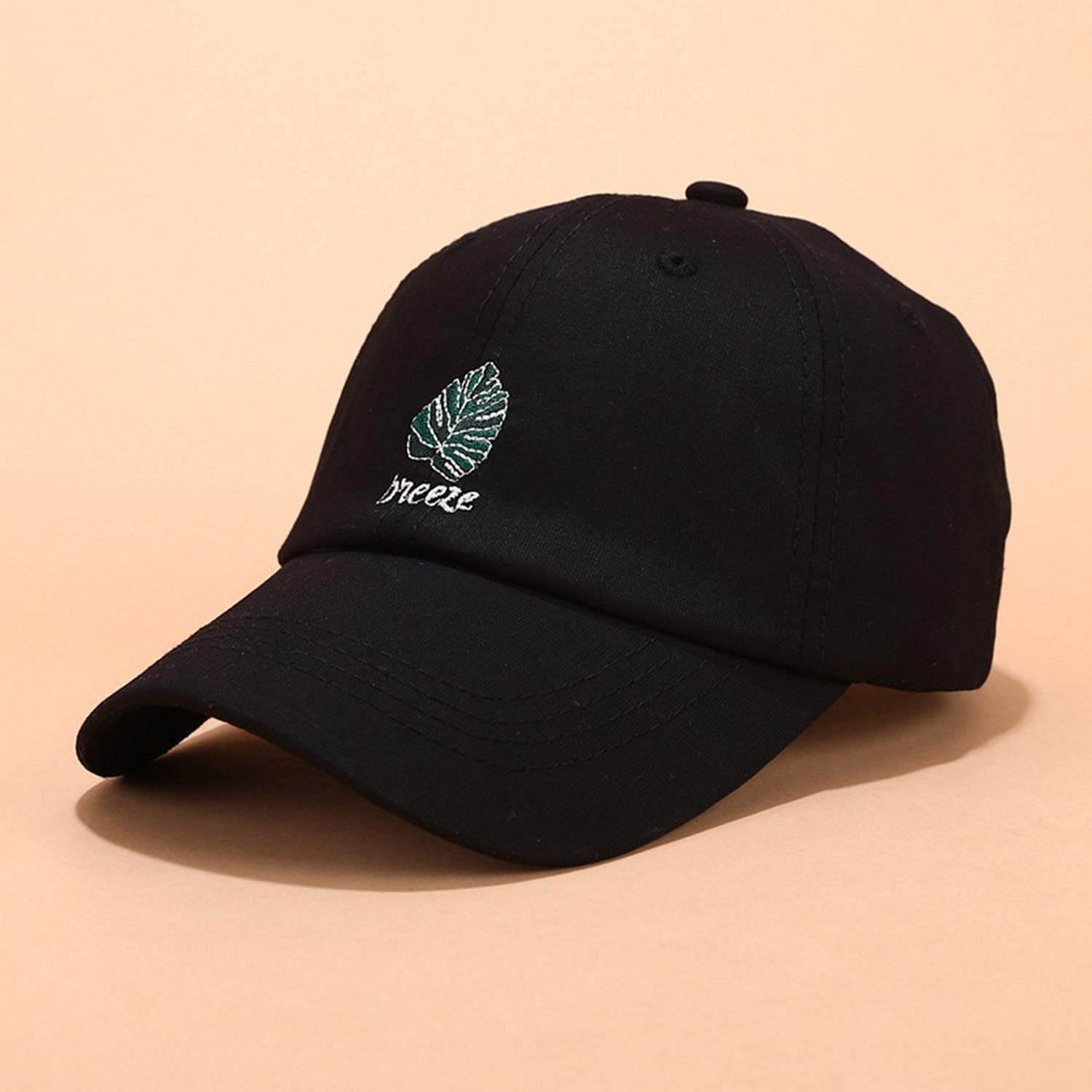 Summer Unisex Leaf Embroidery Full Cap Baseball Hat Women Men Cotton Gorras Bone Trucker Dad Hats Fashion Caps at Amazon Mens Clothing store: