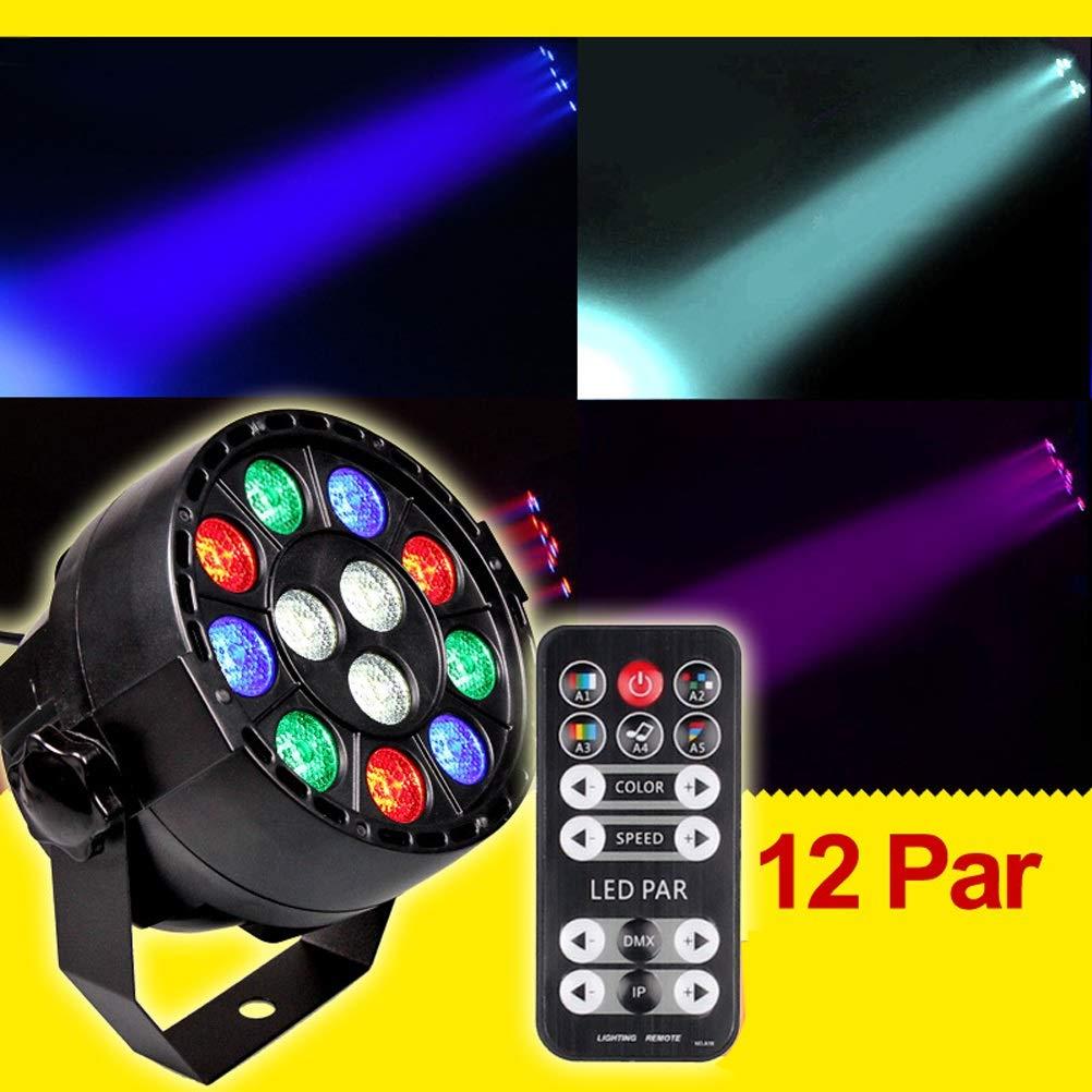 Stage Lights- ►WTD-Remote Control LED Par Light 12 Sound Control Par Light Full Color Background Light KTV Bar Light Decor Lighting