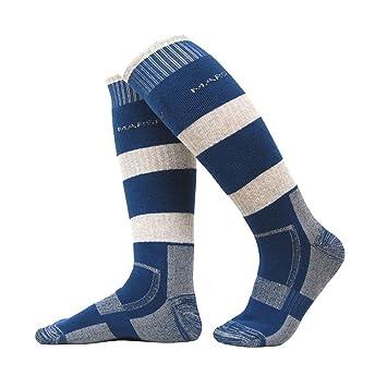 Bwiv Unisex High Performance Acolchada Calcetines de esquí para Senderismo Camping Ciclismo Patinaje de Invierno,