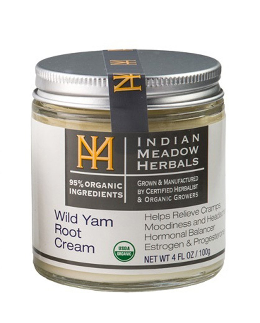Indian Meadow Herbals Wild yam root cream 4oz USDA Certified