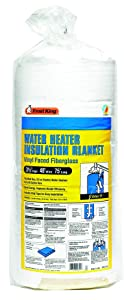 "Frost King SP57/11C All All Season Water Heater Insulation Blanket, 3"" Thick x 48"" x 75"", R10"