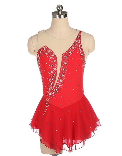Vestido de patinaje artístico para chicas de Womena, traje ...