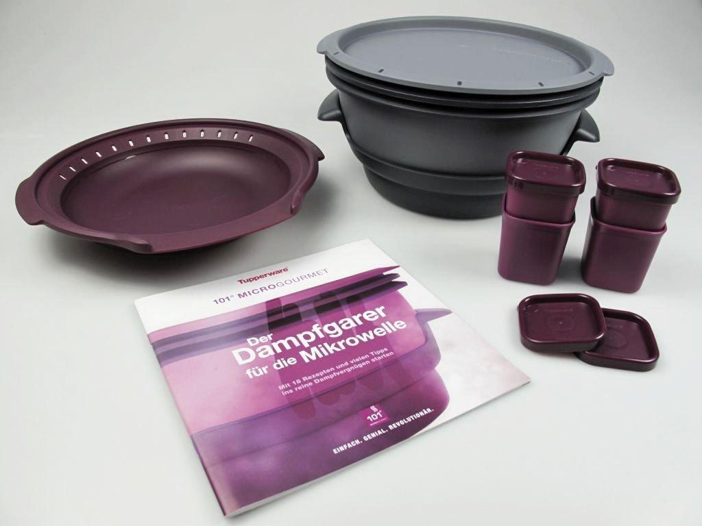 Tupperware Microondas Micro Gourmet gris, Vapor, moldes Lila (4 ...
