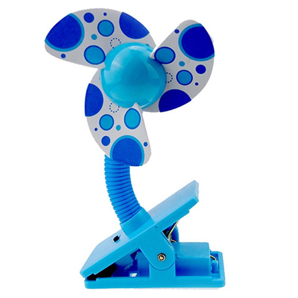 Alamana Battery Operated Foam Blades Clip on Mini Desk Baby Stroller Fan
