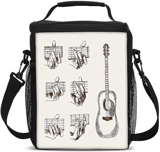 Bolsa de almuerzo para guitarra, instrumento de estilo artístico y ...