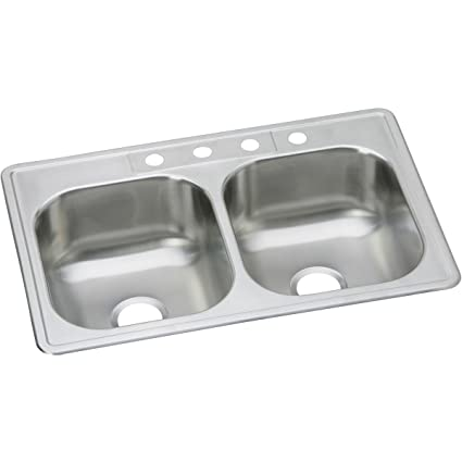 Merveilleux Dayton DSE233224 Equal Double Bowl Top Mount Stainless Steel Sink