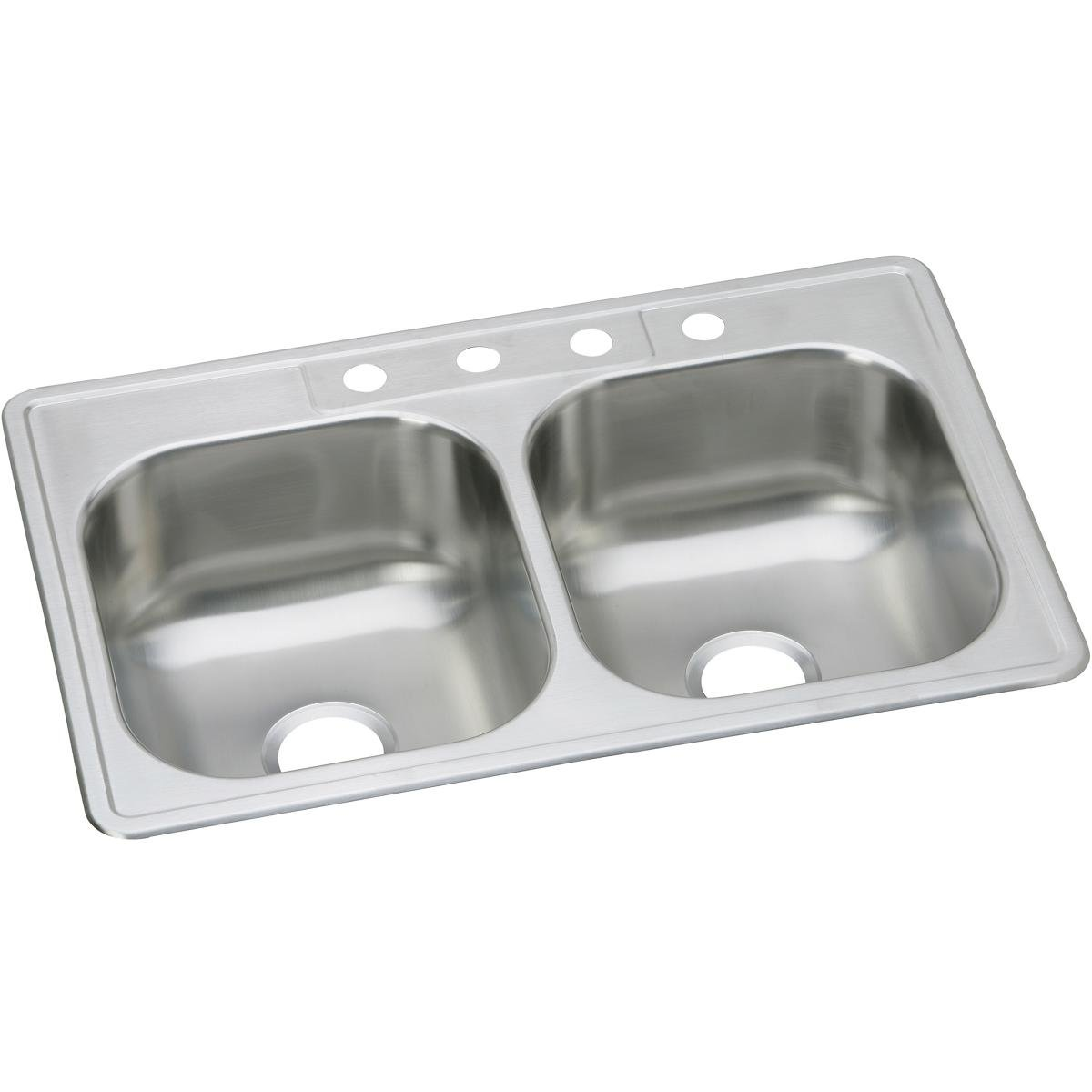 Dayton DSE233223 Equal Double Bowl Top Mount Stainless Steel Sink