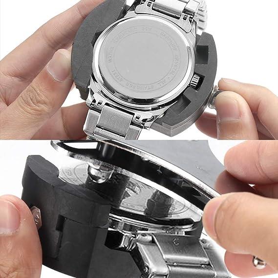 168 Unids Herramienta de Reparación de Relojes Reloj Profesional Kit de Reparación de Relojes Abridor de la Caja del Reloj Banda de Enlace Pin Herramienta de Barra de Resorte Relojero con Estuche: