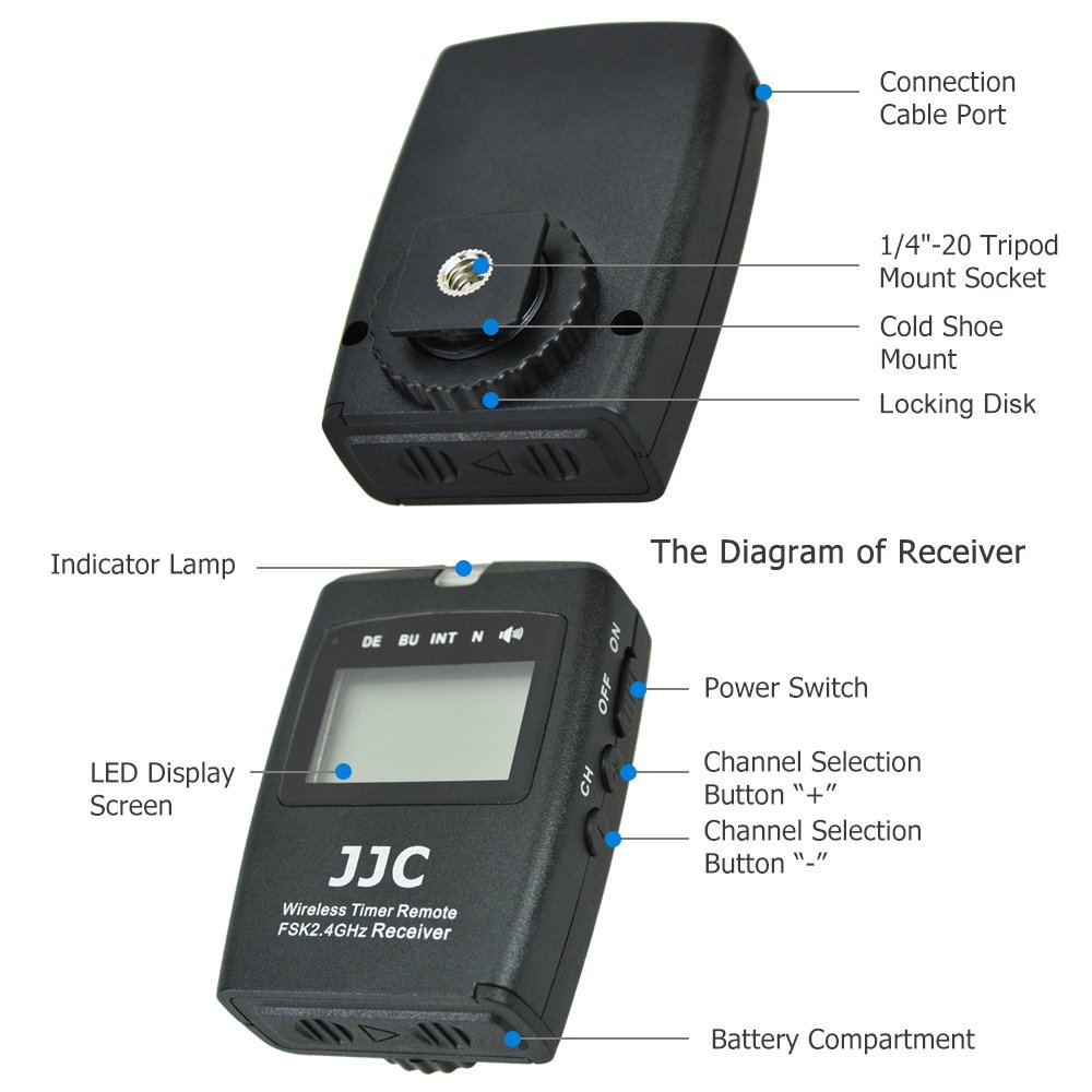 JJC TC-80N3 Intervalometer Timer Remote Shutter Release Time Laspe for Canon EOS 5D Mark IV III II 6D Mark II 7D Mark II 5Ds R 1DX Mark II 50D 40D 30D 20D 10D and More Canon Cameras
