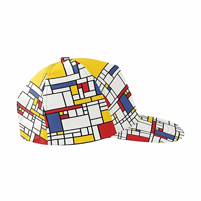 ee0f84a58bace Image Unavailable. Image not available for. Color  INTERESTPRINT Mosaic  Pattern Baseball Cap Outdoors Flat Snapback Hat