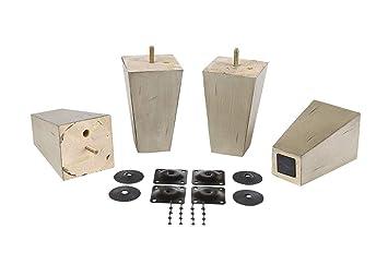Amazon.com: ProFurnitureParts – Juego de 4 patas de madera ...