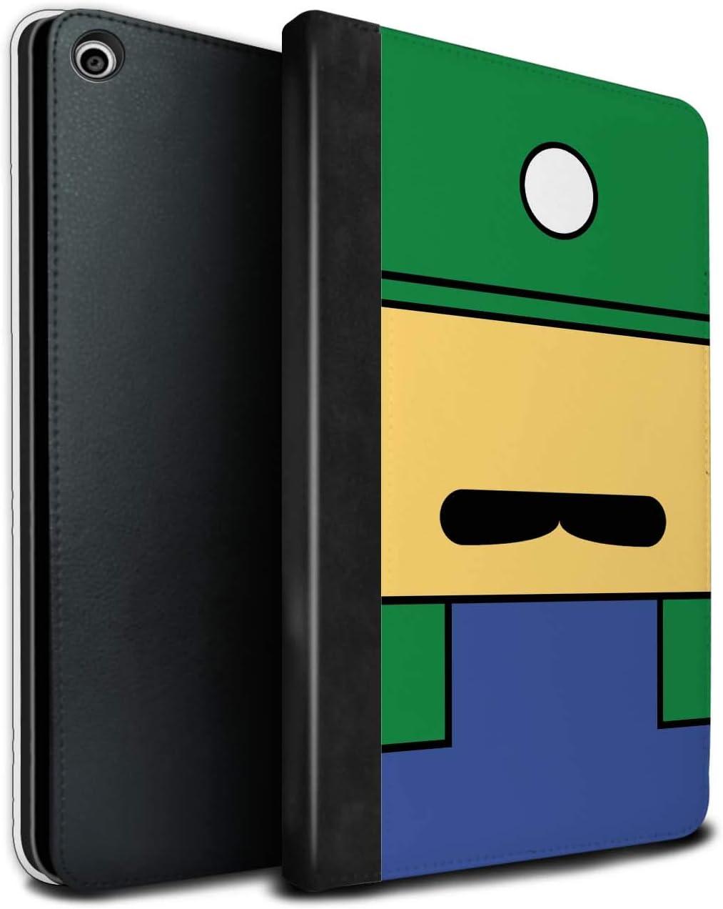 eSwish PU Cuero Funda/Carcasa/Folio Libro en para el Apple iPad Mini 5 2019/5th Gen Tablet/Serie: Caracteres Juego Retro - Luigi Inspirado