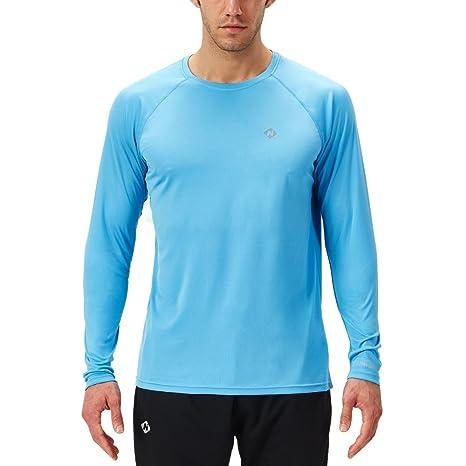Per Con Lunghe Girocollo Uso Uomo Shirt Maniche T Maglia Naviskin cOB7Fqwx8R