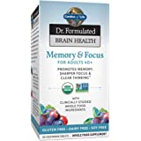 Garden of Life Dr. Formulated Organic Brain Health Memory & Focus for Adults 40+ 60 Tablets
