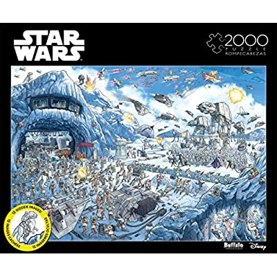 Star Wars - Search Inside: Battle of Hoth - 2000 Piece Jigsaw Puzzle: Toys & Games