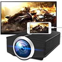 MEER 1200 Lumens LCD Mini Portable Projector, Home Video Projector Multi-Screen Interaction, WiFi Supported, 130'' Big Screen Size Support 1080P, with HDMI/VGA/AV/USB/TF interfaces/Audio Port