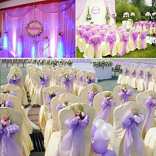 GSN 10M Backdrop Gauze Curtain Table Chair Cover Wedding Party Decorations Organza Roll Event Party Supplies -