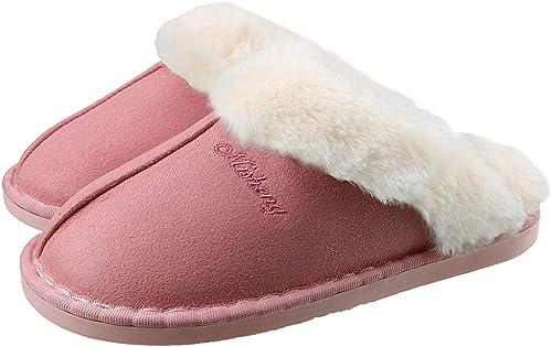 Zapatillas de Estar por Casa para Mujer Hombre Otoño Invierno Calienta Pantuflas Interior Suave Algodón Casa Zapatilla Pareja Zapatos Calzado