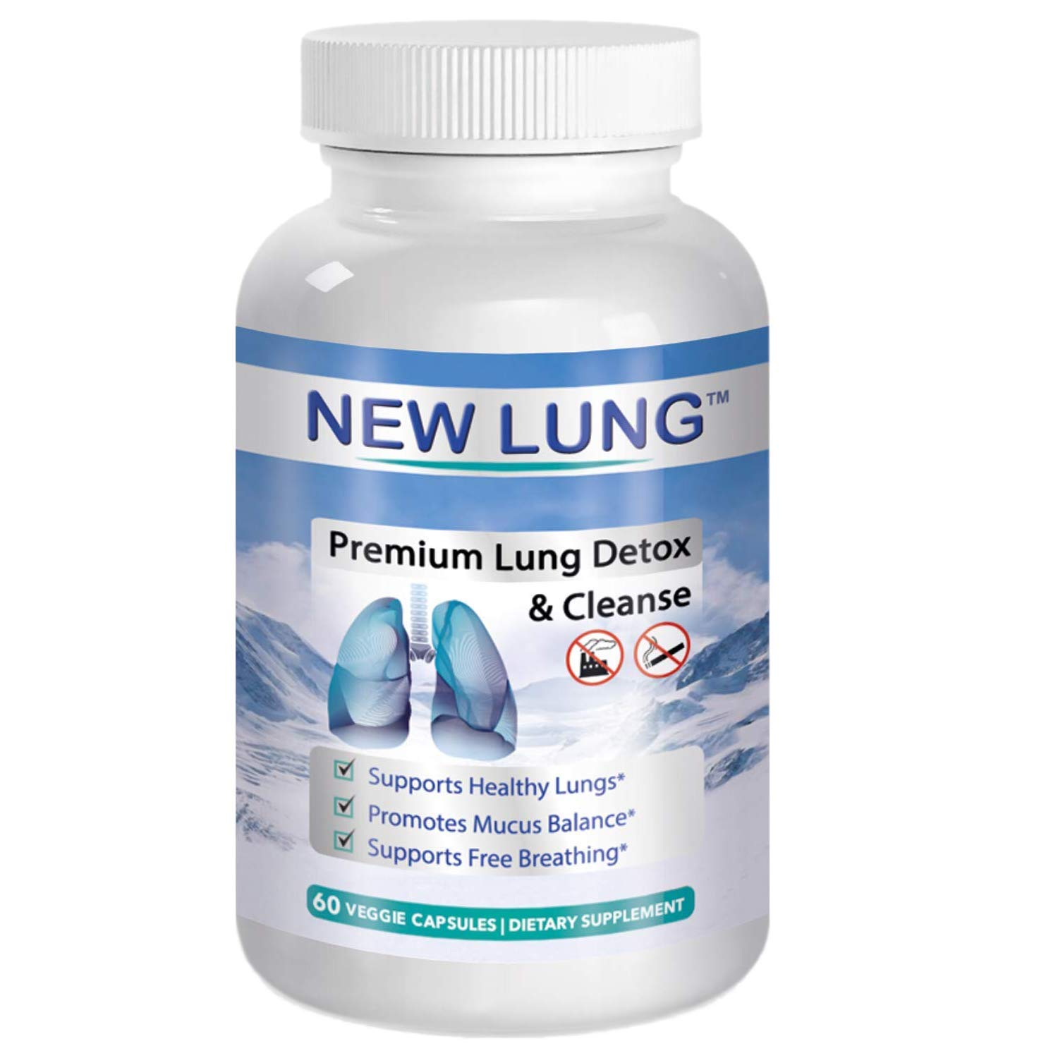 Lung Detox ⭐ Premium - Lung Cleanse ►Top Rated Herbal Lung Cleanse & Detox. Supports Healthy Lungs & Sinus from Harmful Effects of Smoggy Cities & Years of Smoking