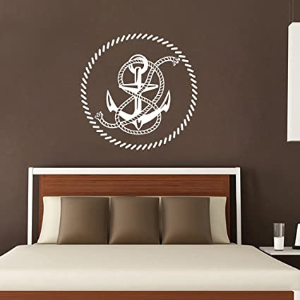 Amazon.com: Anchor Design Boys Nautical Wall Decals Rope ... on nautical bedroom accessories, nautical bedroom wallpaper, nautical bedroom diy ideas, nautical bedroom designs, rustic wood headboard bedroom ideas, nautical bedroom wall ideas, nautical bedroom art, nautical themed bedroom ideas, nautical master bedroom ideas, nautical bedroom for teen girls, nautical bathroom ideas, nautical room ideas, nautical guest bedroom ideas, nautical bedroom crafts, nautical bedroom color, nautical bedroom curtains, nautical color ideas, nautical curtains ideas, nautical interior ideas, luxury white bedroom ideas,