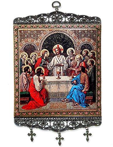 Used, Last Supper Tapestry Icon Banner 13 1/8 Inch for sale  Delivered anywhere in USA