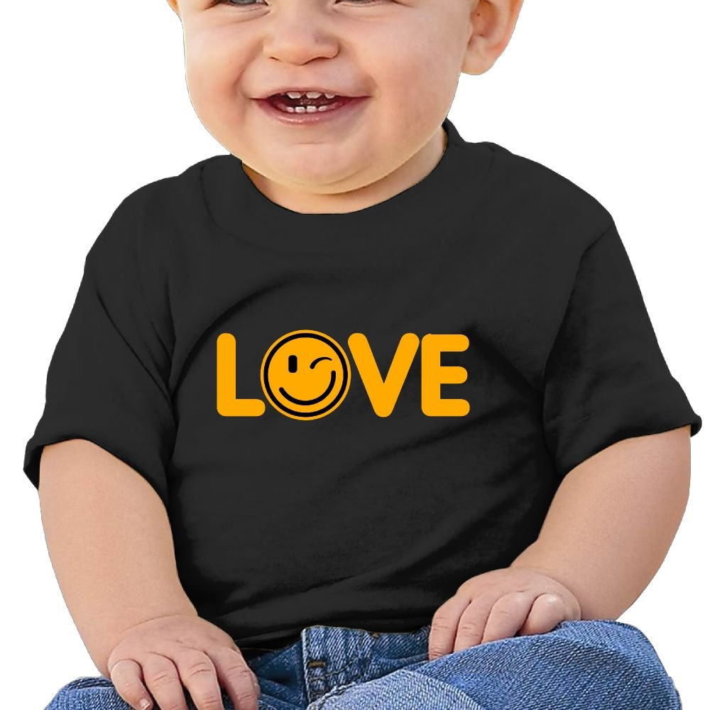 REBELN Love Smile Cotton Short Sleeve T Shirts For Baby Toddler Infant