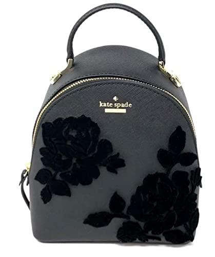 Amazon.com  Kate Spade Black Cameron Street Backpack Handbag Flocked Roses   Shoes 8abd98ab7a420