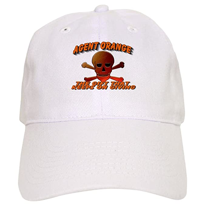 3f2eb85c769 Amazon.com  CafePress - Agent Orange Skull - Baseball Cap with Adjustable  Closure