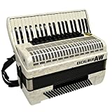 Excalibur AW 120 Bass Piano Accordion -Made In Germany - White