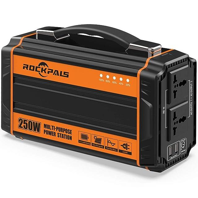 Rockpals 250-watt portable solar generator