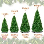 Strong-Camel-Artificial-Christmas-Tree-5678ft-w-Metal-Stand-Xmas-Slim-Spruce-Natural-Decor