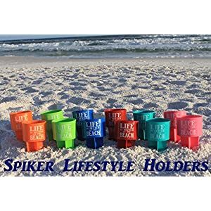 Spiker Lifestyle Holder, Life is Better at The Beach, 12-Pack