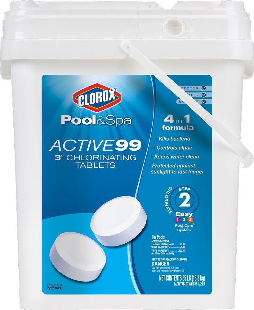 Clorox Pool&Spa Active99 3'' Chlorinating Tablets 35 lb by CLOROX Pool&Spa