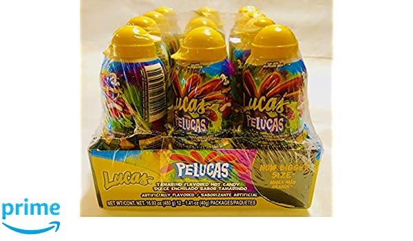 Amazon.com : Lucas Pelucas Tamarindo JUMBO Candies - 1.41 Oz : Grocery & Gourmet Food