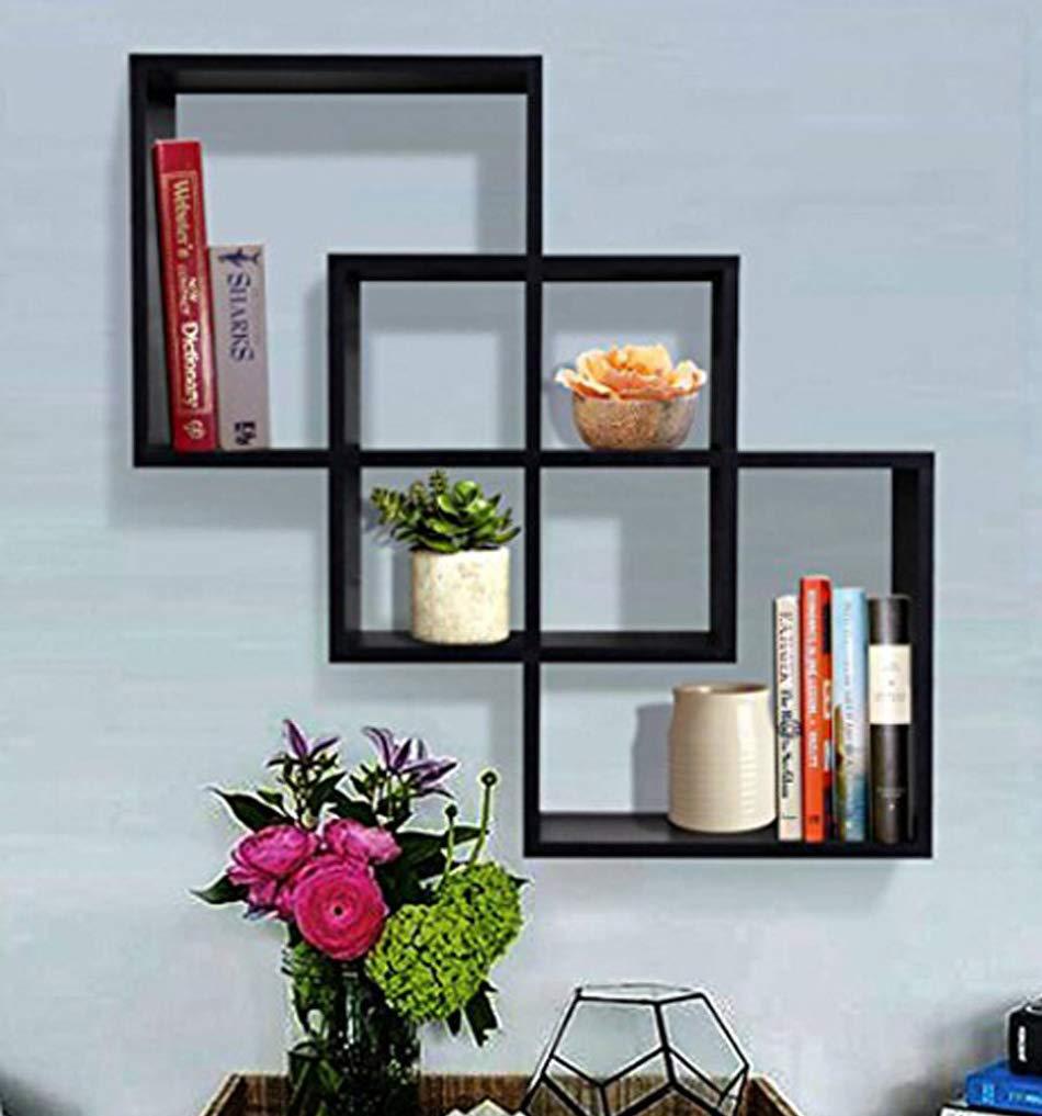 Amazon.com: SHELVING SOLUTION Quadrate Decorative Wall Shelf (Black ...