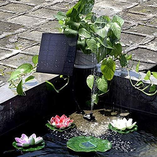 CamKpell Fuente de Bomba de Estanque Solar Cuadrada Juego de Agua Fuente de Estanque Solar Bombas solares para jard/ín p/ájaro jard/ín ba/ño Estanque Balck Agua