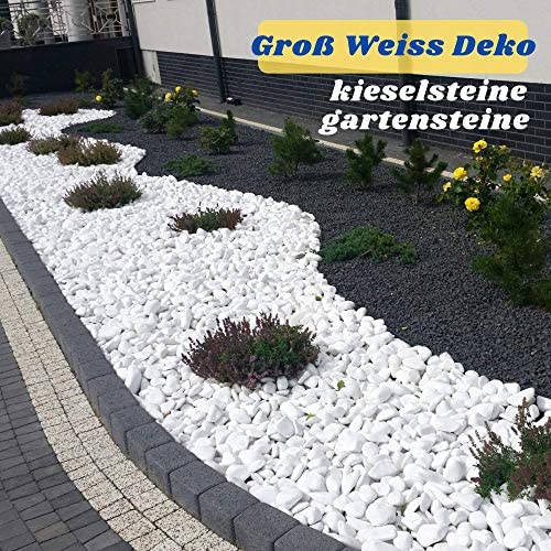 Grandes Piedras para Pintar y Piedra Blanca Jardin Decorativas piedra Natural Grava Acuario decorativa guijarros para decoración de jardines pinturas decoración de acuarios 40-80 mm: Amazon.es: Jardín