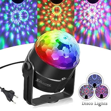 SOLMORE Discokugel Lichteffekte Partylicht RGB Dj Lampe 5W Magic ...