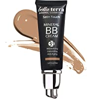 Bella Terra BB Cream Tinted Moisturizer, Mineral Foundation, Concealer, Anti-Aging, Natural Sun Protection, All Shades 1.69oz - Medium Tan 105