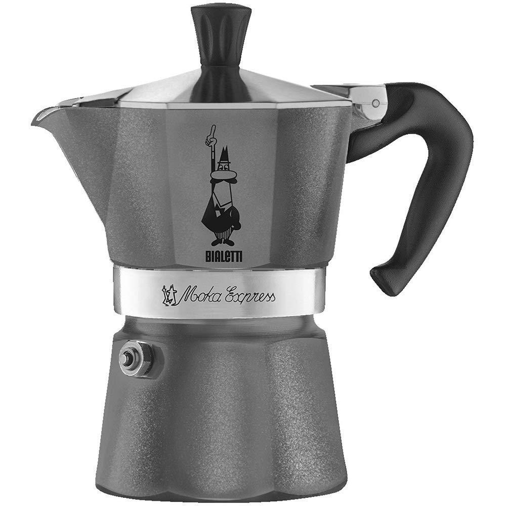 CUCUBA Bialetti Espressokocher Fü r 3 Tassen Aluminium Grau 30x20x15cm 5312