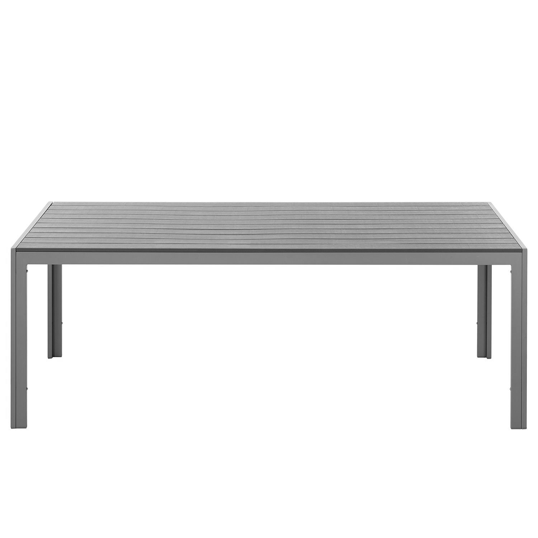 Amazon.de: Gartentisch Polywood Aluminium silber 150x90cm Alu Tisch ...