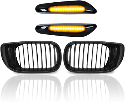 Chrome Kidney Euro Front Upper Kidney Grill Grille For BMW 2002-2005 320i 325i 325Xi 330i 330Xi E46 4DR