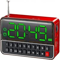 Rádio Relógio FM c/ Entr USB/Alarme/Mp3 e Auxiliar Vermelho WS1513