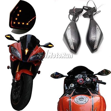 Amazon.com: FidgetFidget Motorcycle LED Turn Signal Mirrors ...