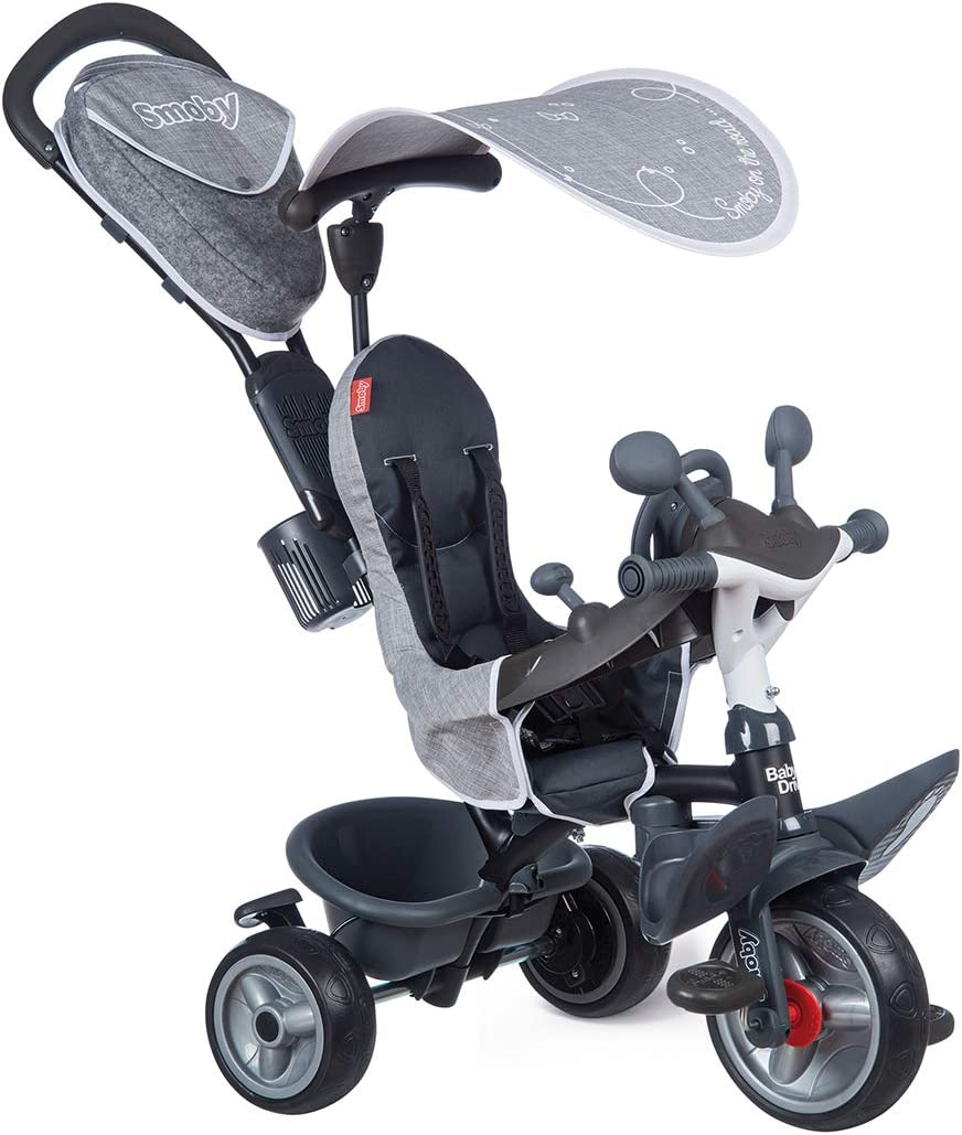 Smoby- Tricycle-Baby Driver Plus-Gris, 741502