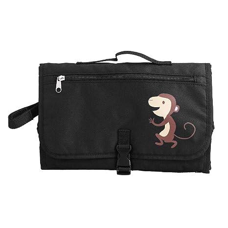 Cambiador de pa/ñales port/átil con bolsa de malla para ni/ños peque/ños Cambiador de viaje inflable impermeable estera plegable para el hogar viaje