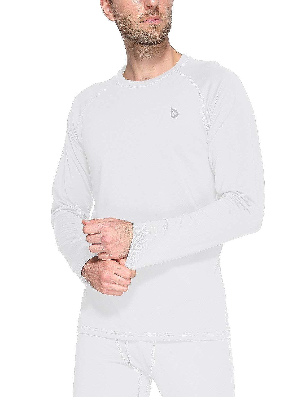 Baleaf Men's Heavyweight Thermal Shirt Fleece Baselayer Long Sleeve Crewneck Top