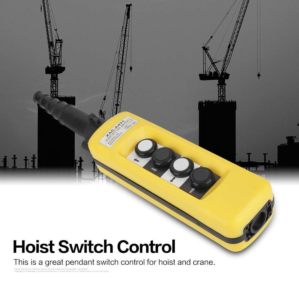 Rainproof Hoist Crane Pendant Control Station Push Button Switch 4 Buttons