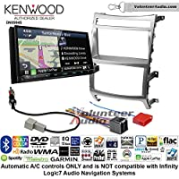 Volunteer Audio Kenwood Excelon DNX994S Double Din Radio Install Kit with GPS Navigation Apple CarPlay Android Auto Fits 2007-2012 Hyundai Veracruz (Automatic A/C controls)