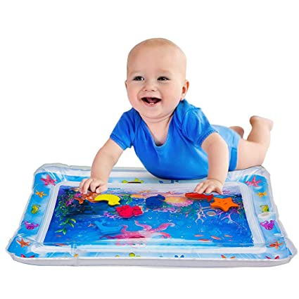 PRISH Inflatable Tummy Time Premium Water Mat Infants /& Toddlers The Perfect Fun Time Play Activity Center Your Babys Stimulation Growth 26 X20